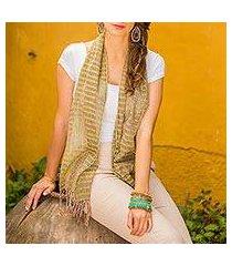 cotton scarf, 'subtle textiles' (guatemala)