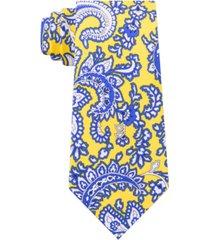 tommy hilfiger men's central paisley silk tie