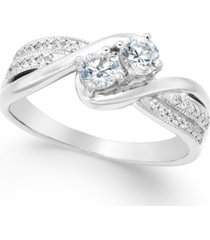 two souls, one love diamond anniversary ring (1/2 ct. t.w.) in 14k gold or white gold