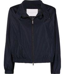fabiana filippi rhinestone-embellished lightweight jacket - blue