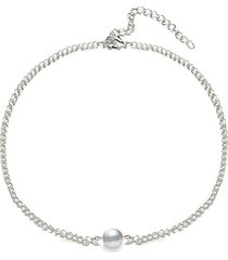 artificial pearl chain choker necklace