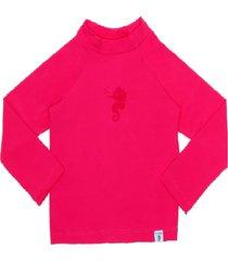 blusa fpu 80+ eco&play pink - rosa - menina - poliamida - dafiti