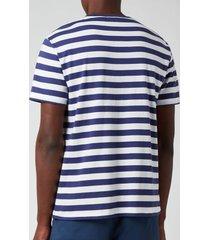 polo ralph lauren men's jersey stripe t-shirt - boathouse navy/white - xxl