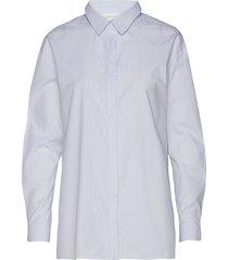 03 the shirt långärmad skjorta blå denim hunter