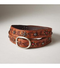 sundance catalog women's iperico embossed belt in cognac large