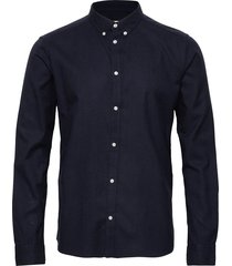 harrison b.d. brushed shirt overhemd casual blauw les deux
