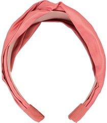 jennifer behr twist satin headband - pink