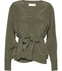 nicole blouse lange mouwen groen fall winter spring summer