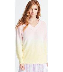 bawełniany sweter z tkaniny farbowanej w całości