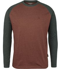 wolverine men's brower long sleeve tee b & t oxblood heather, size lt