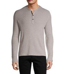 wool-blend henley sweater