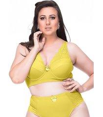 suti㣠sempre sensual lingerie vintage amarelo - amarelo - feminino - dafiti