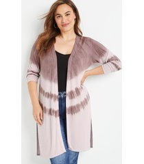 maurices plus size womens purple tie dye duster cardigan