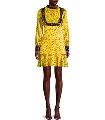 printed silk-blend prairie dress