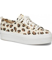 zapatilla triple up lona leopardo keds