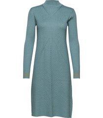 dress long sleeve gebreide jurk blauw noa noa
