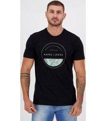 camiseta hang loose silk stamp preta - masculino