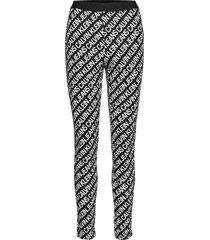 milano aop logo elastic legging leggings svart calvin klein jeans