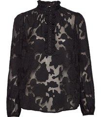 jelena blouse blouse lange mouwen zwart cream