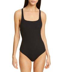 women's ganni textured one-piece swimsuit