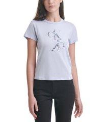 calvin klein jeans animal-print logo t-shirt