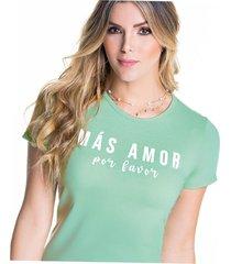 camiseta adulto femenino verde menta marketing  personal