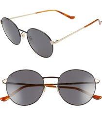 men's gucci 55mm round sunglasses -