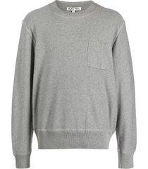 alex mill pocket-detail crew neck sweatshirt - grey