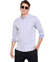 camisa azul oscuro americanino