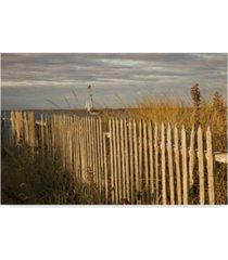 "aledanda along the beach fence i canvas art - 37"" x 49"""
