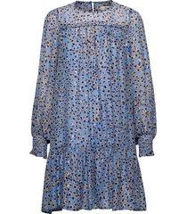 joelle korte jurk blauw munthe