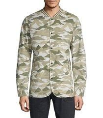 printed cotton-blend jacket