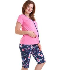 pijama capri adulto luna cuore feminino