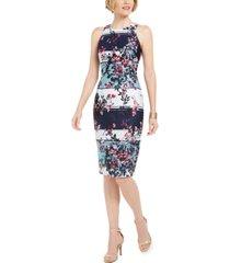 adrianna papell wildflower striped sheath dress