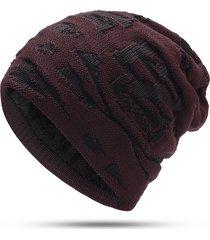 berretto invernale in velluto lavorato a maglia da uomo in lana vogue warm vogue