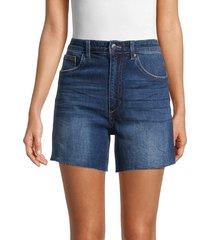 joe's jeans women's the vintage easy cutout denim shorts - blue - size 29 (6-8)