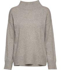 high neck sweater gebreide trui grijs davida cashmere