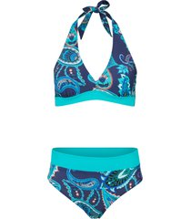 bikini all''americana sostenibile (set 2 pezzi) (blu) - bpc bonprix collection