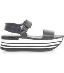 hogan maxiplatform sandals w/belt on ankle