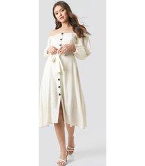trendyol tulum off shoulder midi dress - white