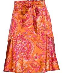head turner skirt knälång kjol orange odd molly