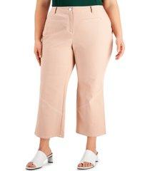 alfani plus size straight-leg ankle pants, created for macy's