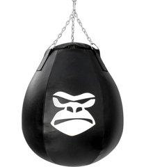 saco de pancada profissional gorilla drop gota preto