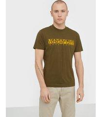 napapijri solanos t-shirts & linnen green