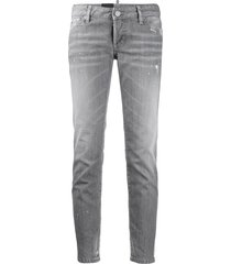 dsquared2 slim-fit low rise trousers - grey