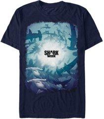 shark week discovery channel men's shark school short sleeve t-shirt