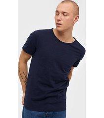 selected homme slhmorgan ss o-neck tee w noos t-shirts & linnen mörk blå