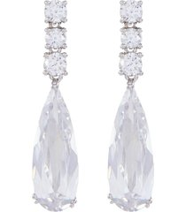 cubic zirconia elongated drop earrings