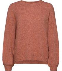anghacr oz knit pullover stickad tröja röd cream