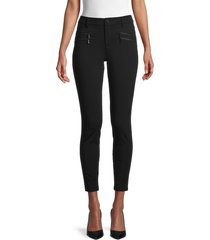 karl lagerfeld paris women's cool comp pants - black - size 4